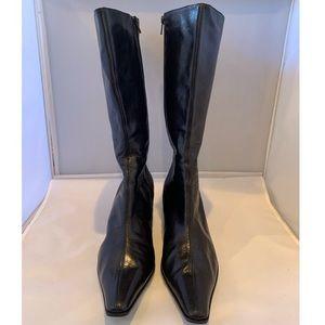 Lavorazione Artigianale Knee High Black Boots